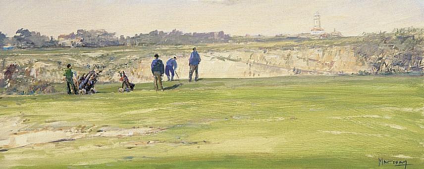 Jugando al golf en Mataleñas