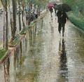(Detalle). Bajo la lluvia